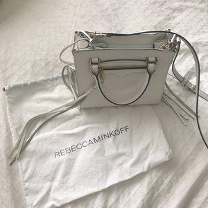 Rebecca Minkoff white leather tassel bag